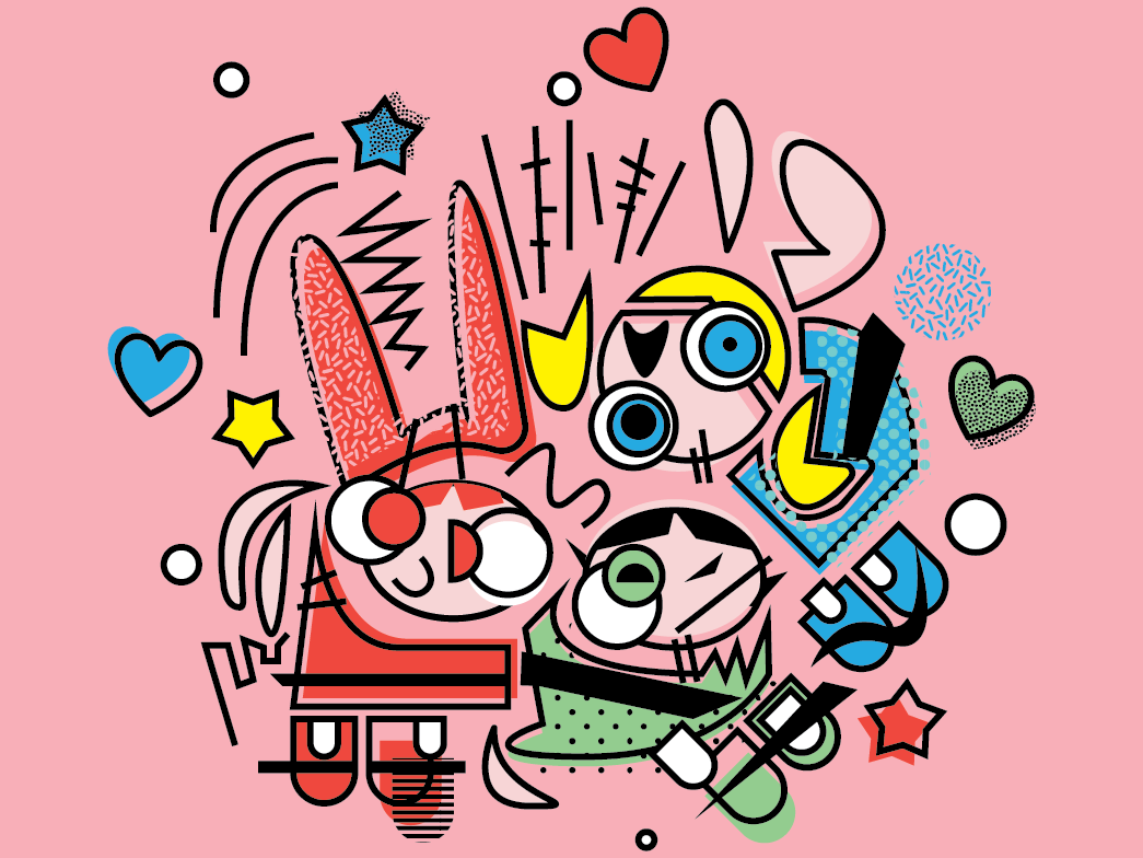 Pworepfuf Grils pop art design illustration