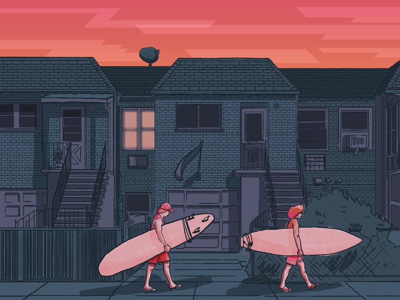 Surf NYC illustration