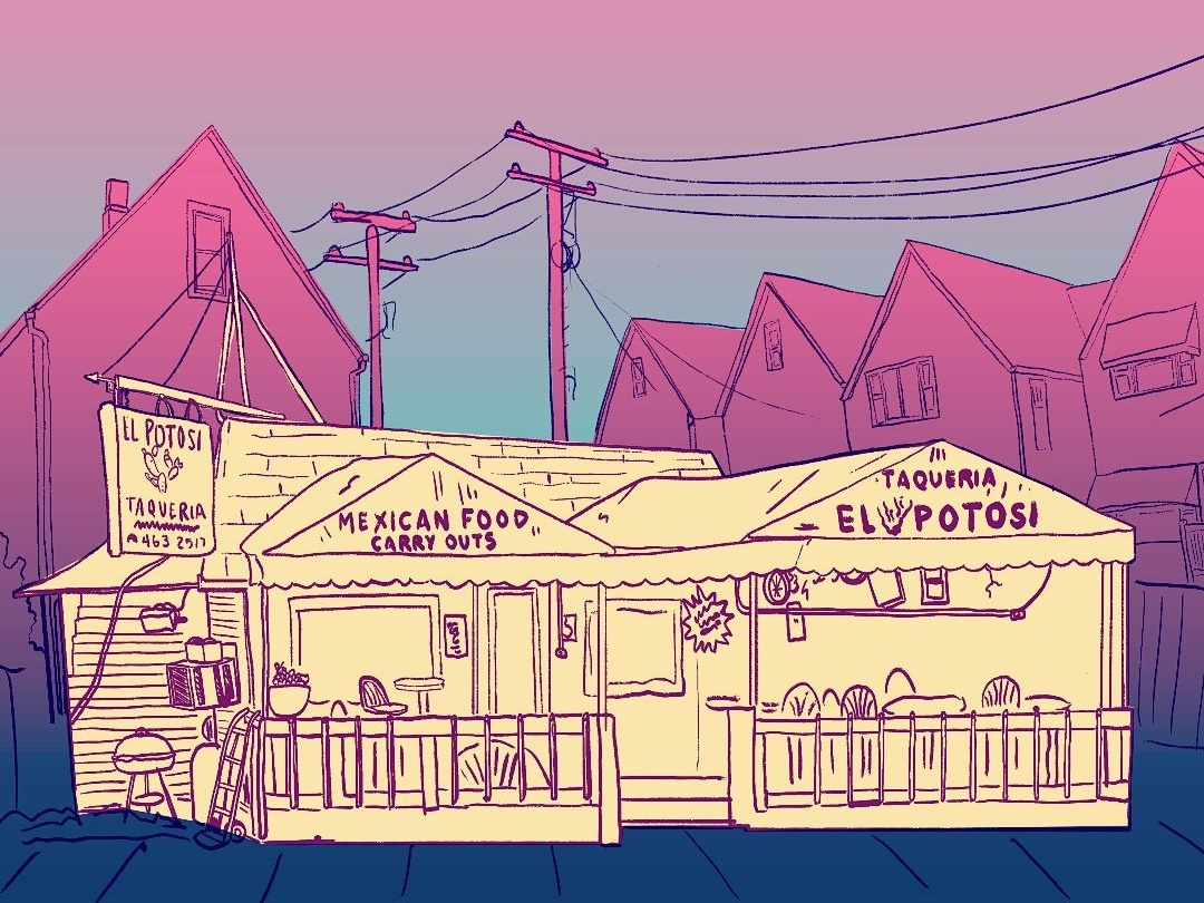 El Potosi Restaurant illustration