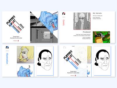 Flippant savant - desktop portfolio site interface frontend ui  ux desktop design webdevelopment webdesig