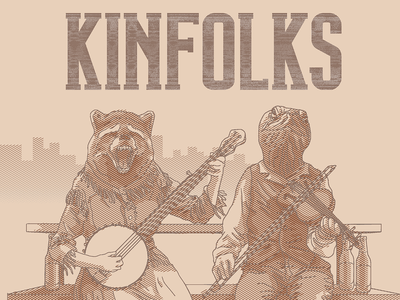 Detail of Kinfolks album cover logo album art album cover illustraion