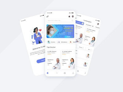 Medical Service App android app design iphone app design top design 2021 ismail hussain ifnlinks ismaillinks hospital app present appointment appointment app doctor appointment doctor app online hospital medical ecommerce app medicine ecommerce app ui design ux ui ambulance app madical app medical app