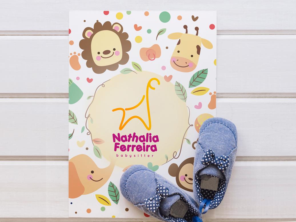 Nathalia Ferreira - Brand Identity animal logo giraffe baby sitter brand brand identity design logo brand identity