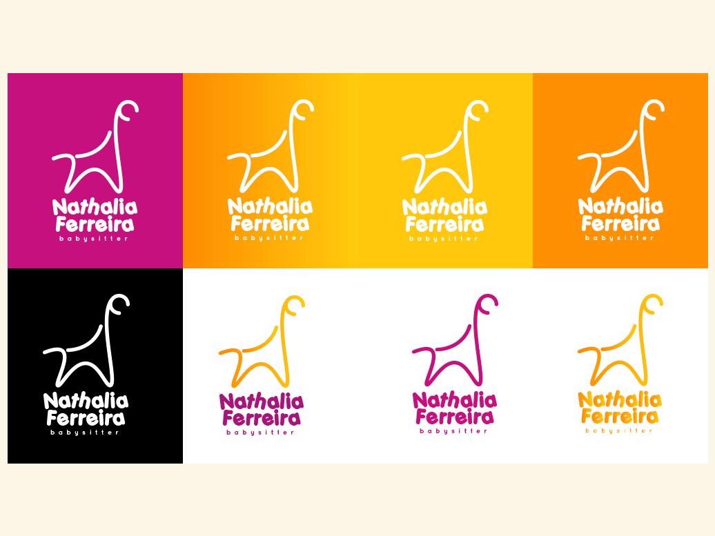 Nathalia Ferreira - Brand Identity branding design illustration logo giraffe brand identity design brand identity brand baby sitter animal logo