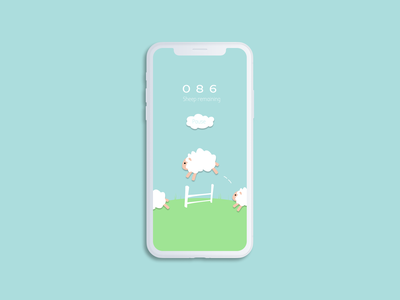 Daily UI - 014 Countdown timer counting sheep cute sheep countdowntimer countdown daily ui 014 dailyui 014 dailyui014 014 ui daily ui design dailyuichallenge dailyui daily 100 challenge