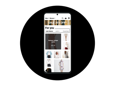 Daily UI - 091 Curated for you dailyui 091 daily ui 091 091 dailyui091 shop for you clothing curated curated for you ui design daily ui dailyuichallenge dailyui daily 100 challenge