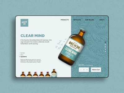 Daily UI - 095 Product tour daily ui 095 dailyui095 dailyui 095 095 concept brew dr shopping product tour product page product kombucha ui design daily ui dailyuichallenge dailyui daily 100 challenge