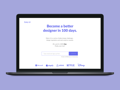 Daily UI - 100 Redesign daily UI landing page 100daychallenge landingpage landing page design redesign daily ui daily ui 100 dailyui 100 dailyui100 100 simple clean ui minimal design daily ui dailyuichallenge dailyui daily 100 challenge