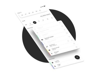 Habit - Visual self improvement habit tracker scheduler schedule todo productivity app routine tracker habit concept
