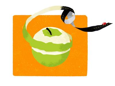 Appletruck apple food illustration texture road