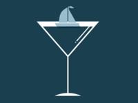 Sailing the sea of gin.