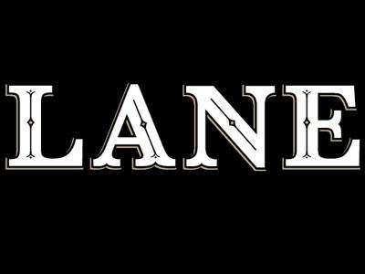 Lane logo lettering bar