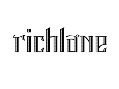 Richlane logo lettering bar