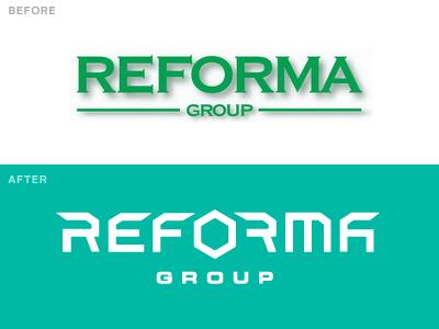 Reforma Rebrand logo lettering science rebrand branding transformers
