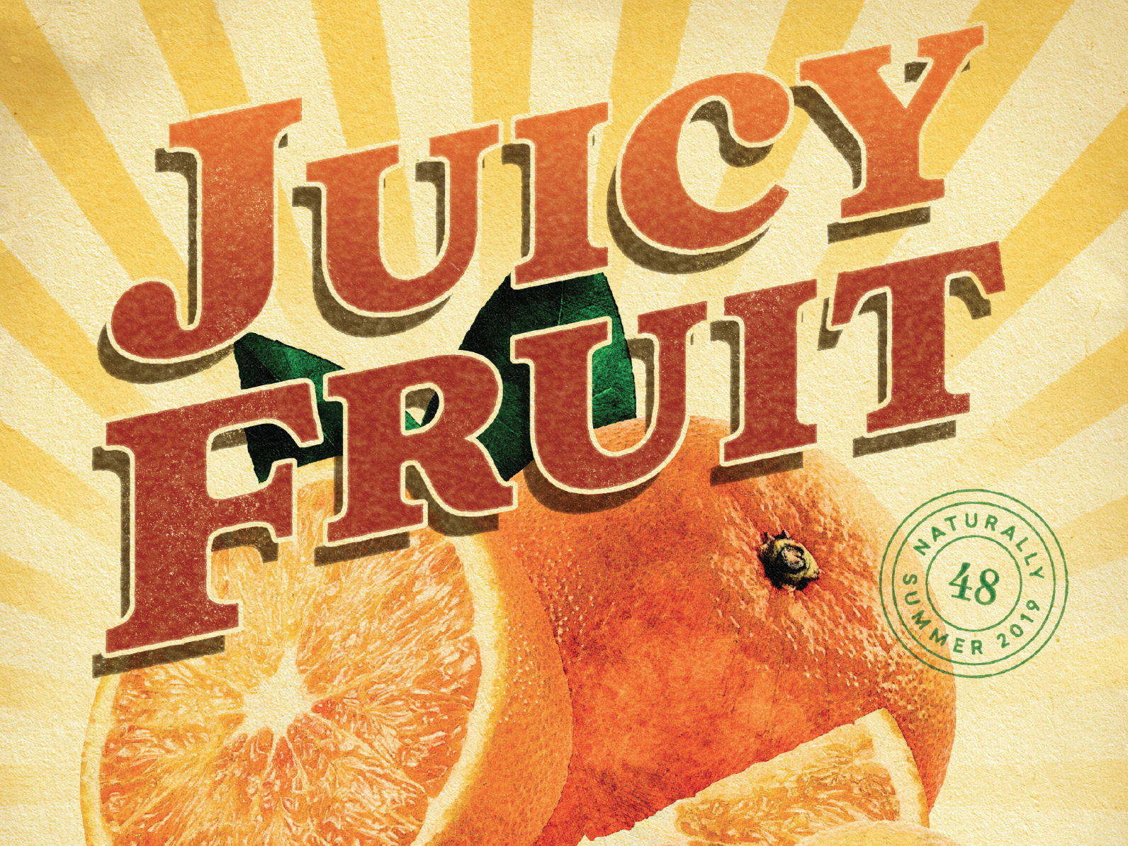 Juicy Fruit fruit poster type magazine textures