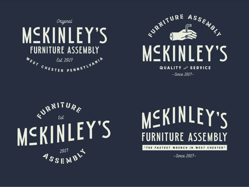McKinley's Funiture Assembly logo design logodesign logotype logos logo type design typedesign typeface type badge design badgedesign badge logo badges badge