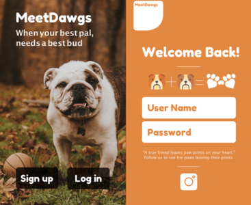 MeetDawgs - sign up