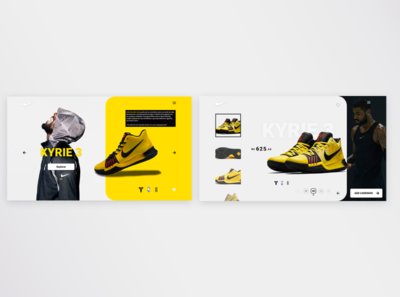 Page concept NIKE   WEBSITE