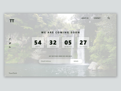 Countdown landing page