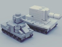 M3 And Ww2 Mini Lego Tank