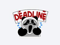 Sticker Panda Deadline