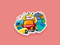 Traffic Jam - Bee sticker