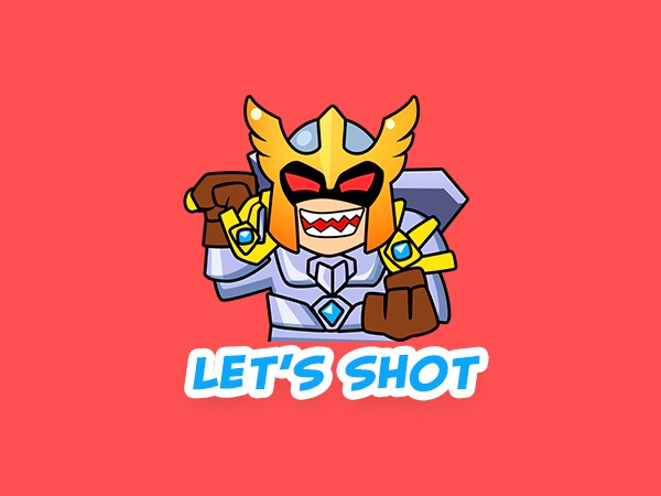 Sticker knight lets shot