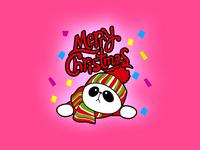 Sticker Panda Christmas03