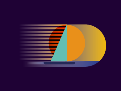 SAIL ON sunset sailboat iconography icon illustration retro abstract gradient vector sialing