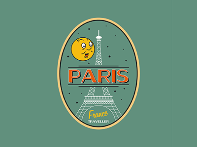 We will Always have Paris. typography character illustration france eiffeltower moon paris