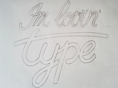 Type sketch type lettering sketch