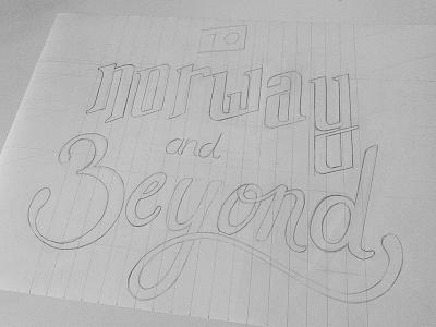 Norway type sketch sketch type lettering
