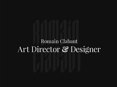 Portfolio update finally online ! art direction web typography ui