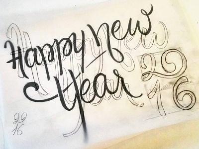 Happynewyear2016.Jpg wishes card 2016 draft lettering