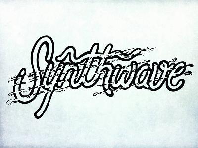 Synthwave Logo logo lettering type