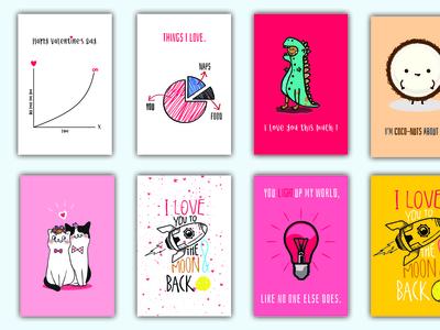 Love Cards Mockup