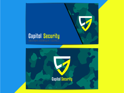 Camouflage Business Card Design