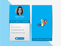 Web Developer's Business Card.