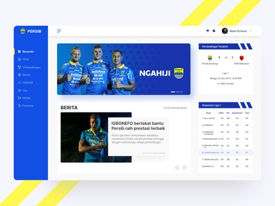 Persib Official Web Redesign