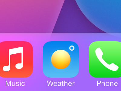 Perfect weather app icon