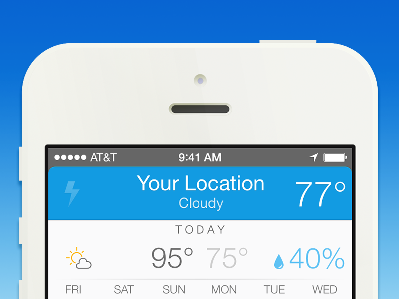 Perfect Weather app ios 7 ui iphone weather perfect launch