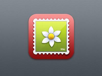 iOS Stamp icon ios icon app iphone stamp flower