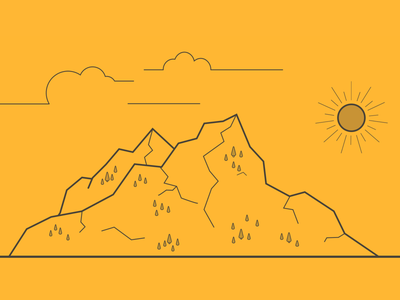 Portfolio Project Header - Scenery header trees clouds sun sketch outline mountain illustration portfolio web