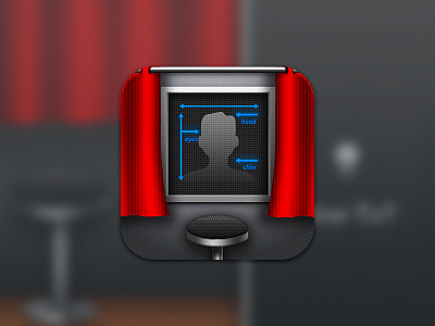 iOS Photobooth icon ios app icon iphone photo booth curtain id passport