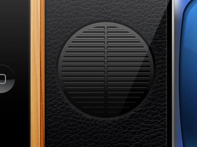 iOS Game Speaker ios ipad app ui game speaker wood screen leather