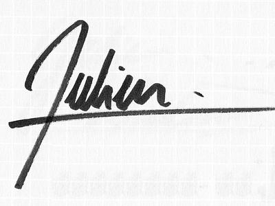 Personal Logo Signature logo branding signature handwritting lettering personal pitt artist pen julien