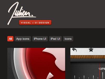 julienmartin.me portfolio website personal logo visual ui design