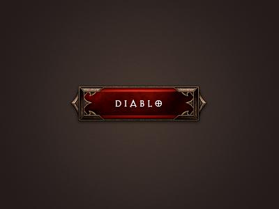 Diablo Button diablo game button ui blizzard practice dodgy kerning