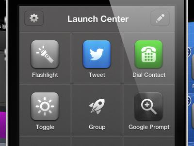 Launch Center Pro UI iphone ui ux app mobile launch icons