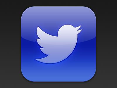 Twitter iOS icon Practice twitter ios app icon iphone standard bird mobile